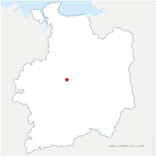 carte de localisation de Montgermont