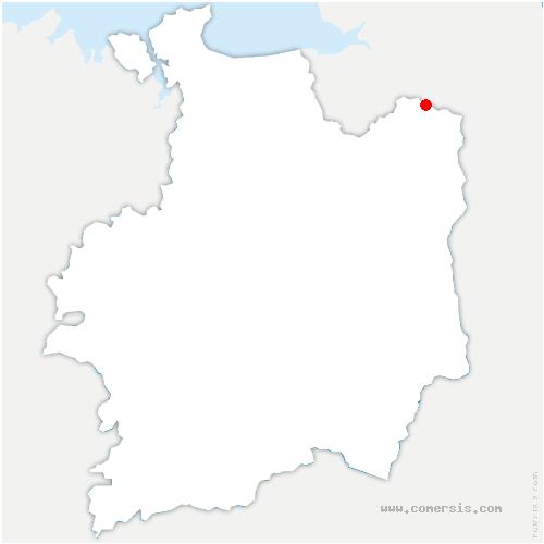 carte de localisation de Monthault