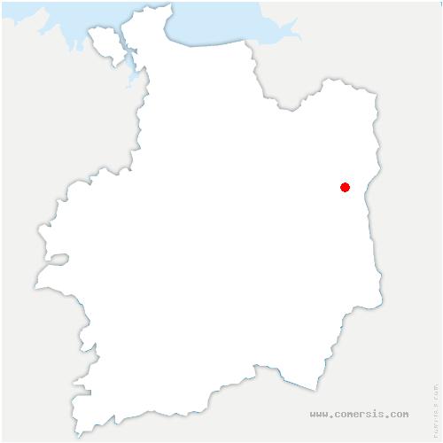 carte de localisation de Parcé