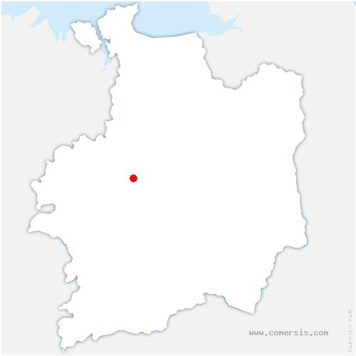 carte de localisation de Parthenay-de-Bretagne