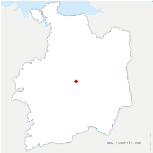 carte de localisation de Rennes