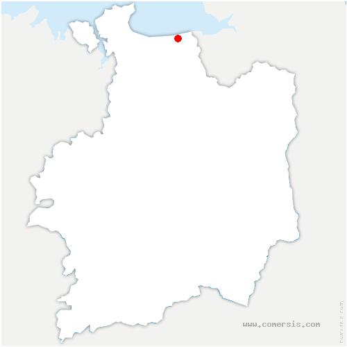 carte de localisation de Saint-Broladre
