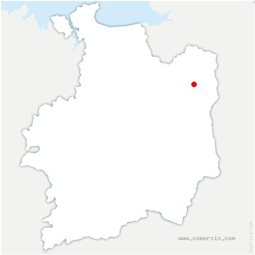 carte de localisation de Saint-Germain-en-Coglès