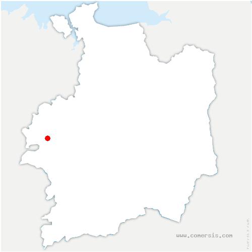 carte de localisation de Saint-Malon-sur-Mel