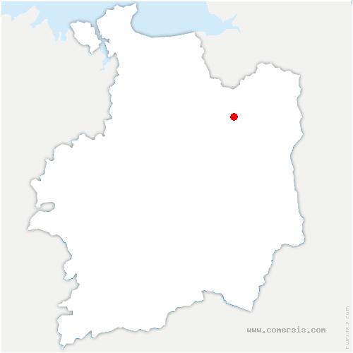 carte de localisation de Saint-Marc-le-Blanc
