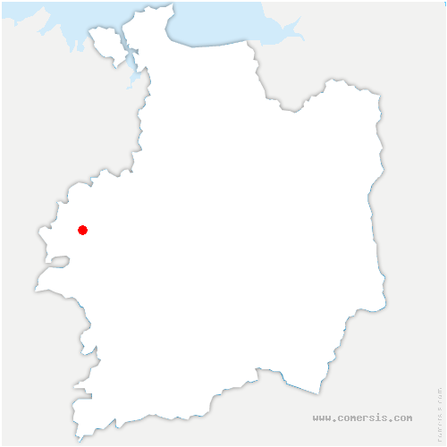 carte de localisation de Saint-Maugan