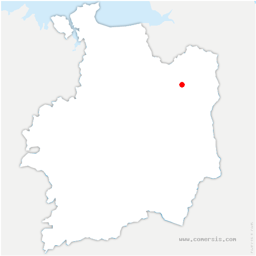 carte de localisation de Saint-Sauveur-des-Landes
