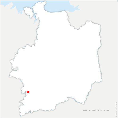 carte de localisation de Saint-Séglin
