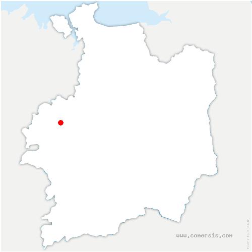 carte de localisation de Saint-Uniac