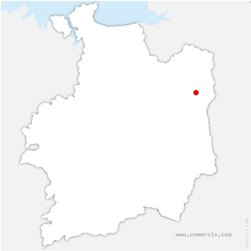 carte de localisation de Selle-en-Luitré