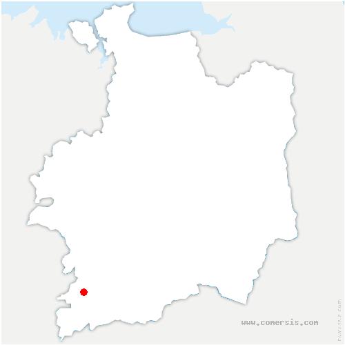 carte de localisation de Sixt-sur-Aff