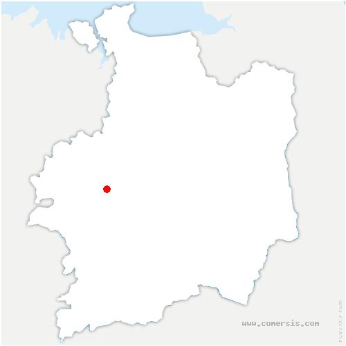 carte de localisation de Talensac