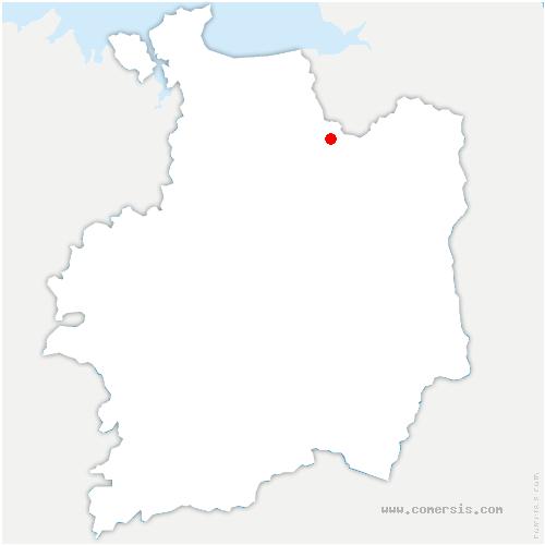carte de localisation de Val-Couesnon