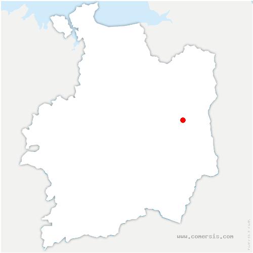 carte de localisation de Val-d'Izé