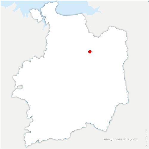carte de localisation de Vieux-Vy-sur-Couesnon