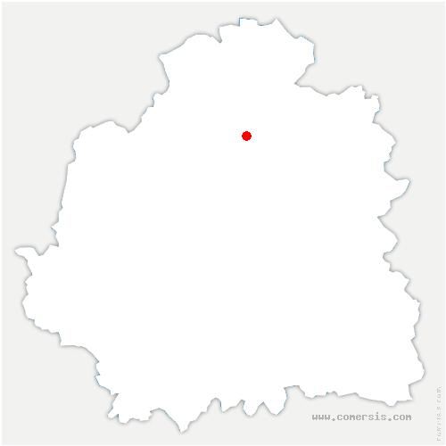 carte de localisation de Levroux