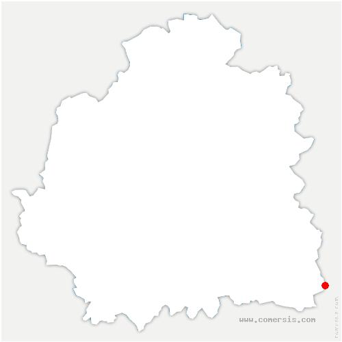 carte de localisation de Pérassay