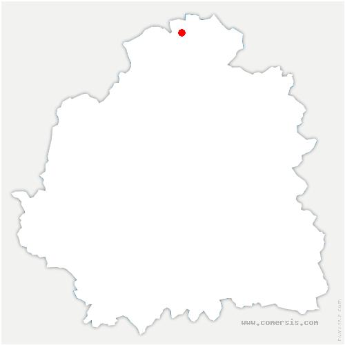 carte de localisation de Val-Fouzon