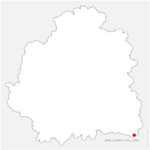 carte de localisation de Vijon