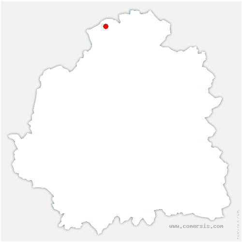 carte de localisation de Villentrois-Faverolles-en-Berry