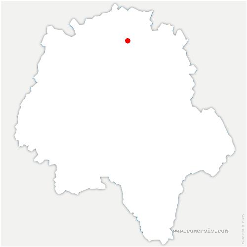 carte de localisation de Beaumont-Louestault