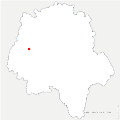 carte de localisation de Coteaux sur Loire