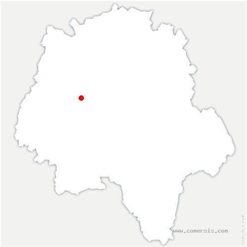 carte de localisation de Langeais