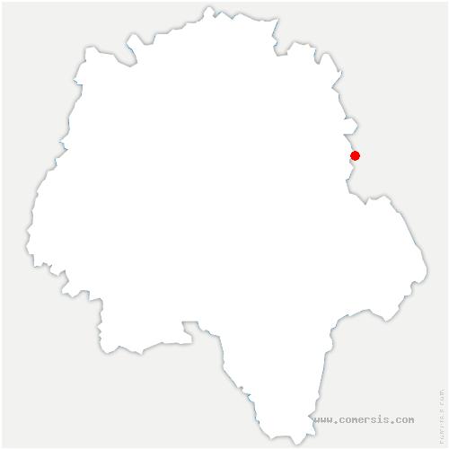 carte de localisation de Souvigny-de-Touraine