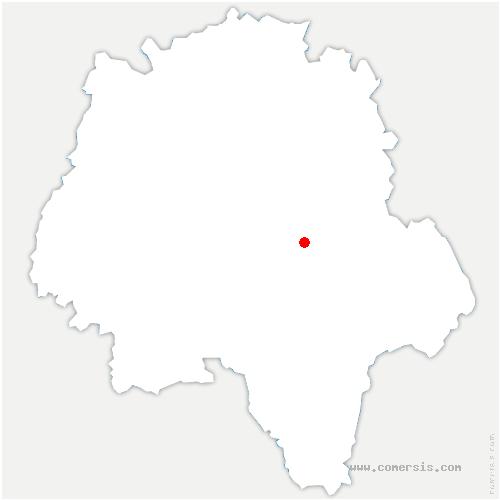 carte de localisation de Tauxigny-Saint-Bauld