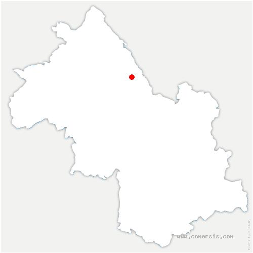 carte de localisation de Abrets-en-Dauphiné