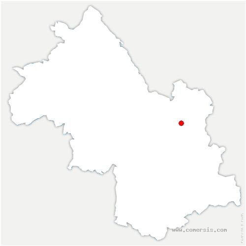 carte de localisation de Adrets