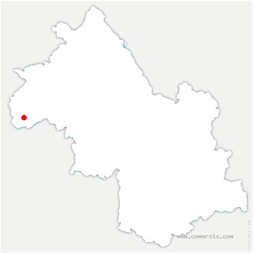 carte de localisation de Agnin