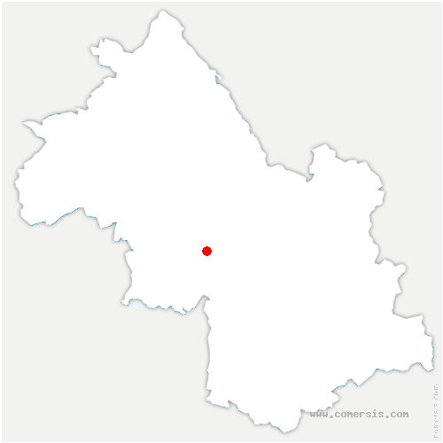carte de localisation de Albenc