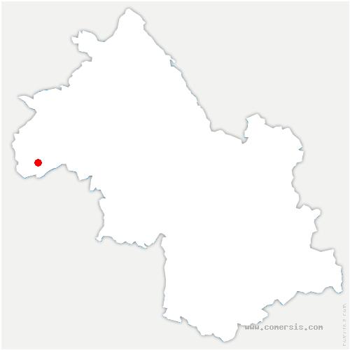 carte de localisation de Anjou