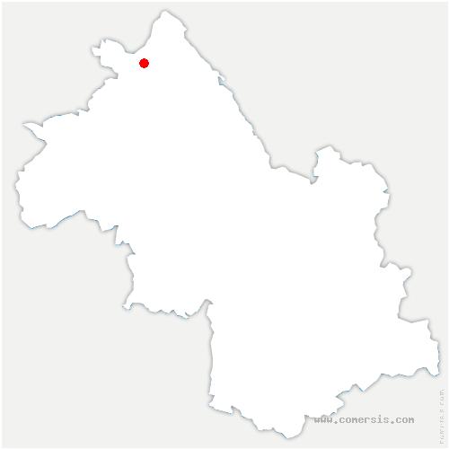 carte de localisation de Annoisin-Chatelans