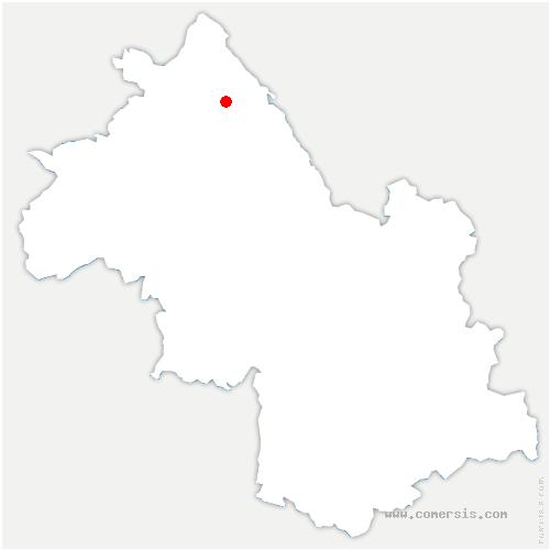 carte de localisation de Arandon-Passins