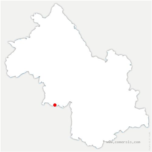 carte de localisation de Auberives-en-Royans