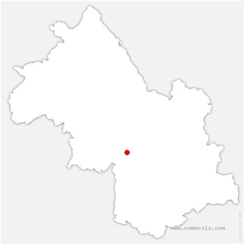 carte de localisation de Autrans-Méaudre-en-Vercors