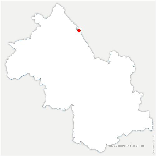 carte de localisation de Avenières-Veyrins-Thuellin