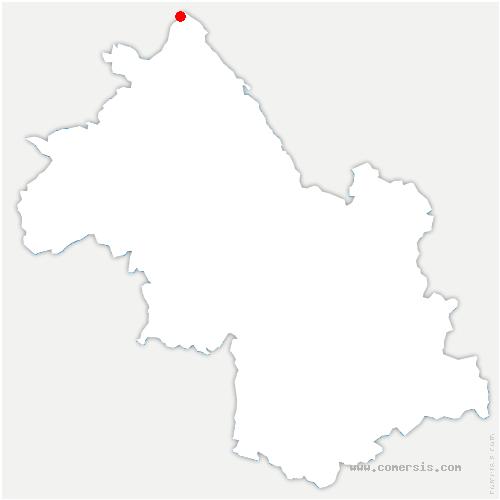 carte de localisation de Balme-les-Grottes