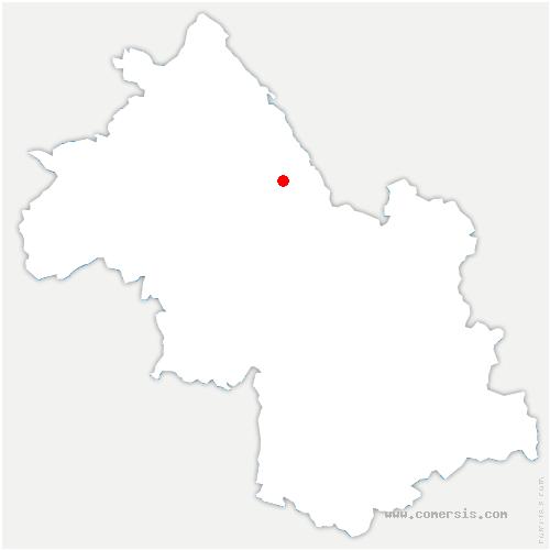 carte de localisation de Bâtie-Divisin
