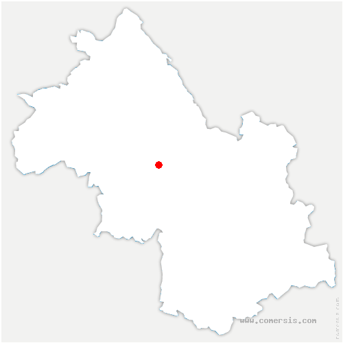 carte de localisation de Beaucroissant