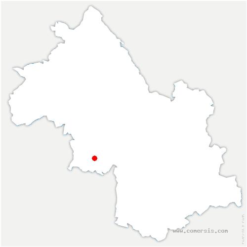 carte de localisation de Beauvoir-en-Royans