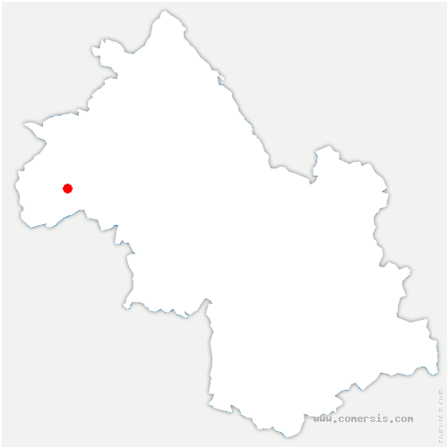 carte de localisation de Bellegarde-Poussieu