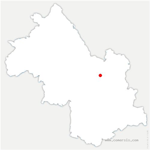 carte de localisation de Bernin