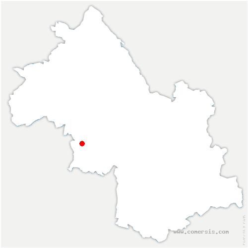 carte de localisation de Bessins