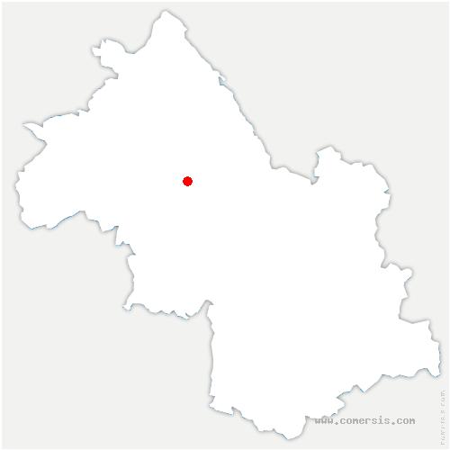 carte de localisation de Bévenais