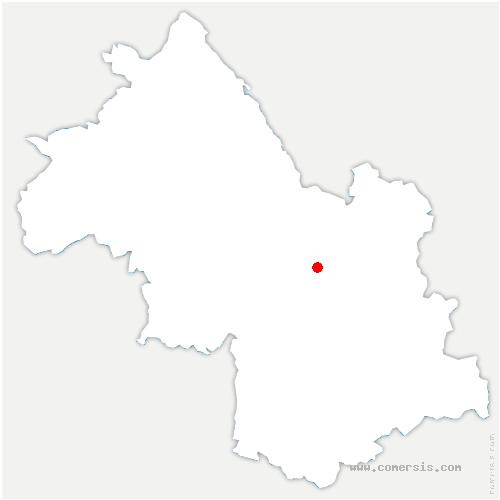 carte de localisation de Biviers
