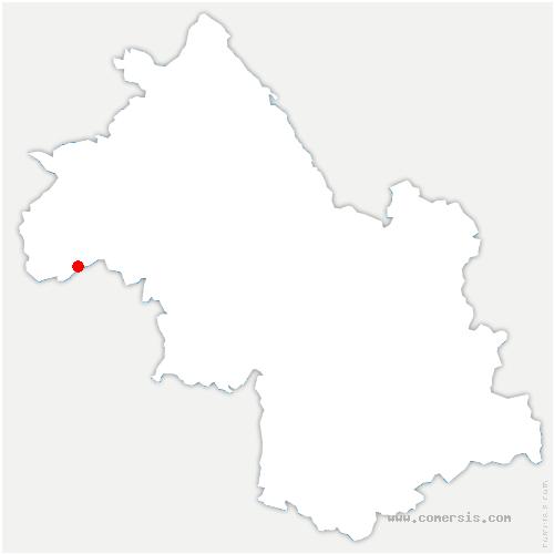 carte de localisation de Bougé-Chambalud