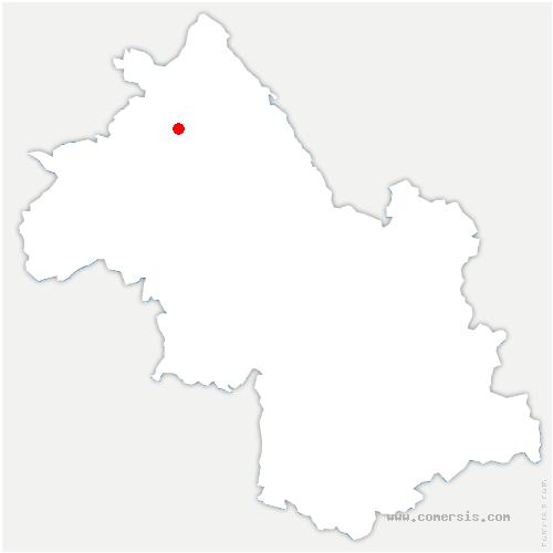 carte de localisation de Bourgoin-Jallieu